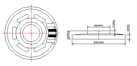 speaker mylar speaker  micro speaker fbf40-1n